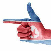 North Korea hand