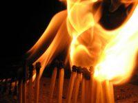 Matches burning