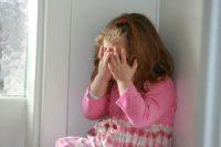 Little girl hiding