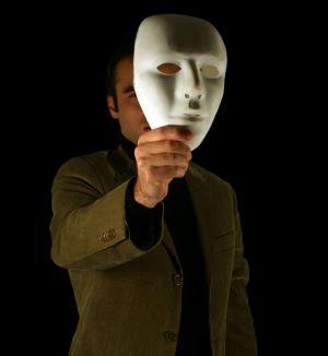Face hidden by a mask